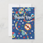 Colorful Board Game Pattern Thank You Card