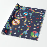 Colorful Board Game Pattern Wrapping Paper