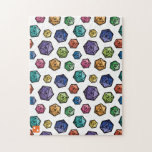 Colorful D20s Pattern Jigsaw Puzzle