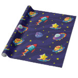 Star Surfing Wrapping Paper