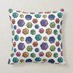 Two Pips - Colorful D20s Throw Pillow