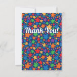 Two Pips Falling Meeples Thank You Card