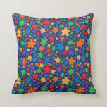 Two Pips - Falling Meeples Throw Pillow