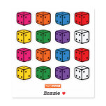 Two Pips  -  Multi-Colored Dice Sticker