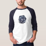 Two Pips - Navy D20 3/4 Sleeve T-shirt