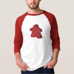 Two Pips - Red Meeple 3/4 Sleeve T-shirt