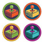 Two Pips Retro Joysticks Coaster Set