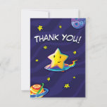 Two Pips Star Surfer Thank You Card