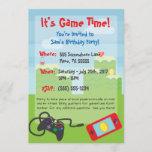 Video Game Themed Birthday Invitation