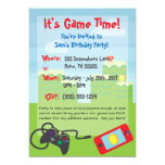 Video Game Themed Birthday Invitation