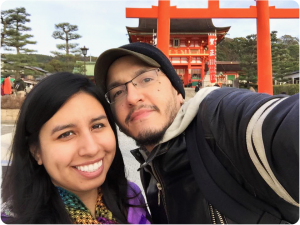 Richard Yambo and Jessica Loredo in Japan